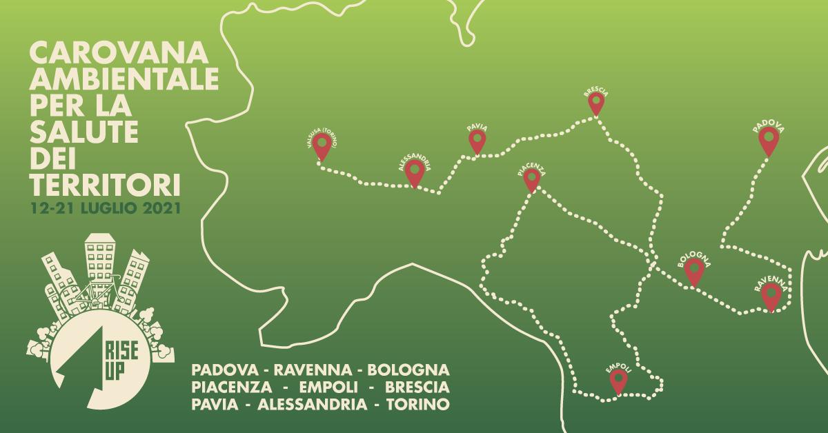 tappe della carovana in Nord Italia
